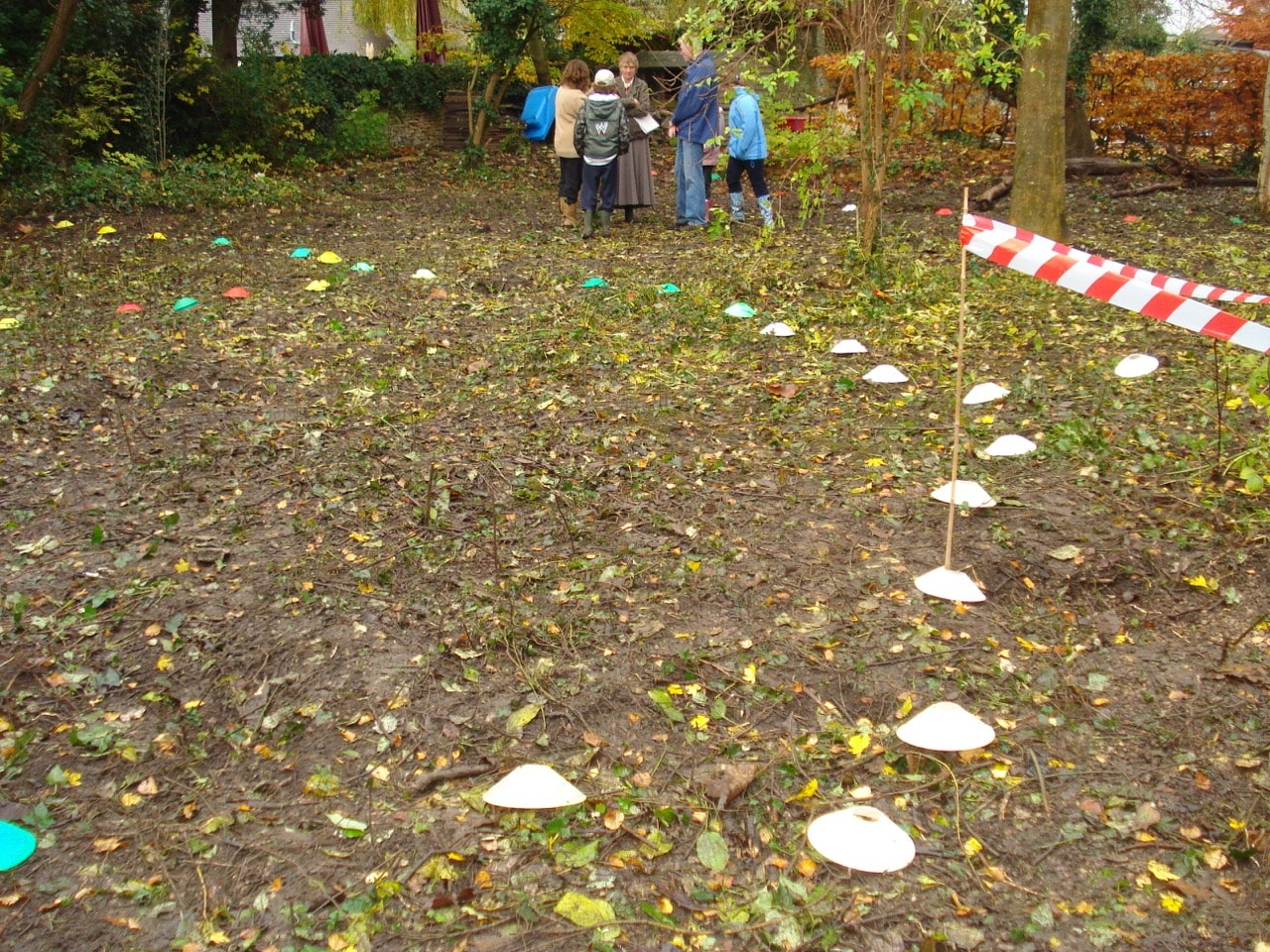 Planning markers on the ground