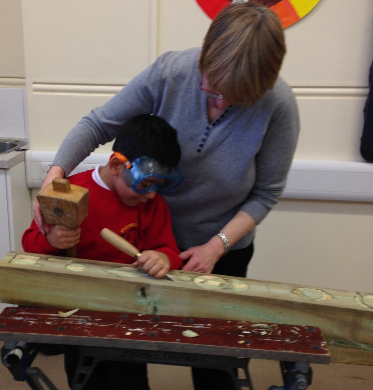 Wood carving with Felicity